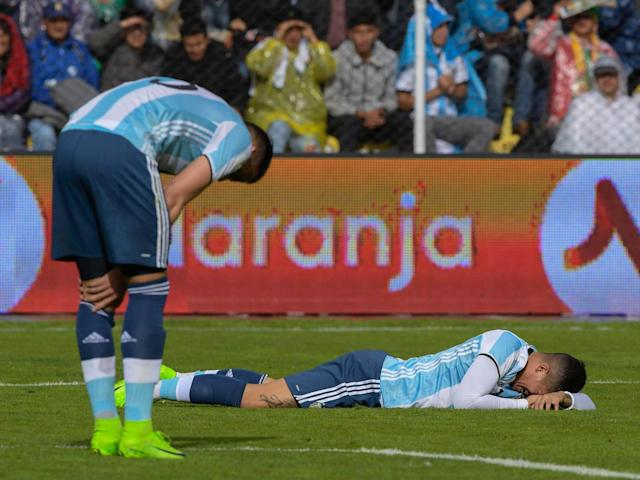 Argentina's defeat in La Paz means they are far from certain of qualification for next year's World Cup (Getty)