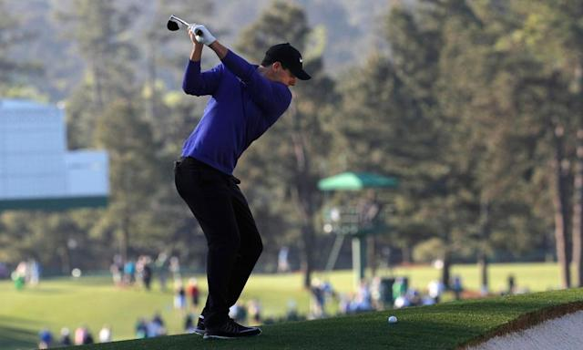 "<span class=""element-image__caption"">Rory McIlroy practises at Augusta with a new TaylorMade M2 fairway wood.</span> <span class=""element-image__credit"">Photograph: Brian Snyder/Reuters</span>"