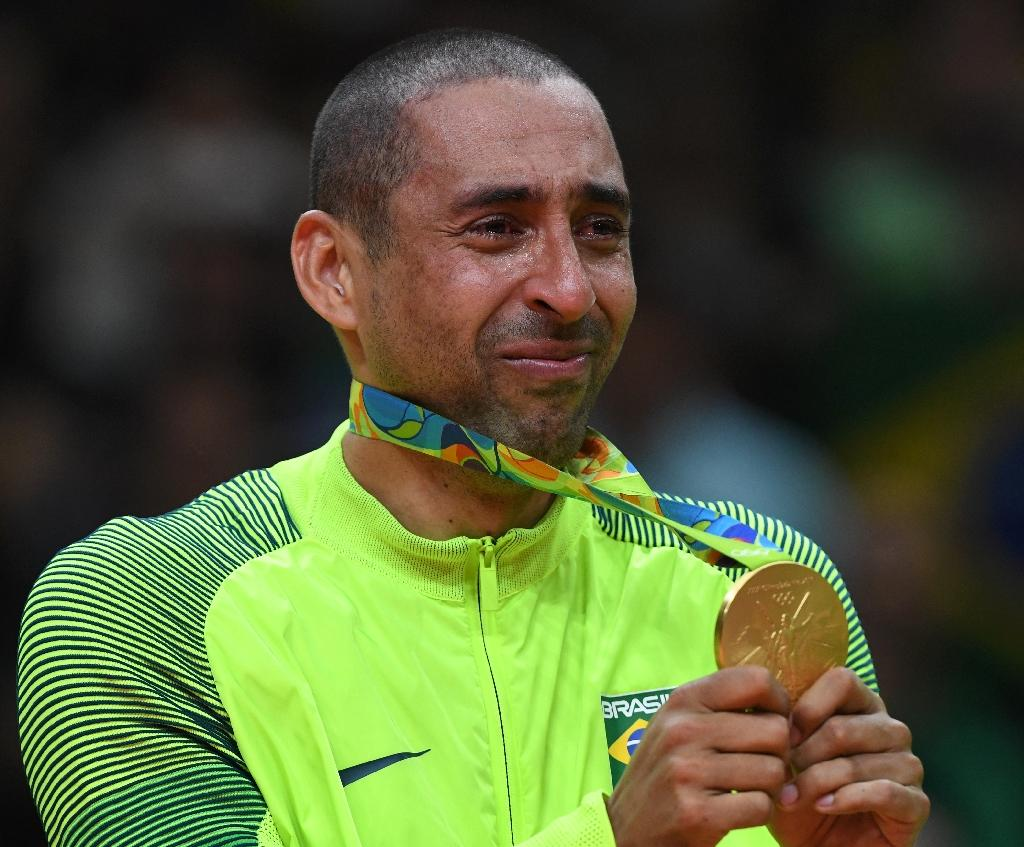 Serginho gave an emotional speech after Brazil's 3-0 victory over Italy in the men's volleyball final at the Rio 2016 Olympic Games (AFP Photo/Kirill Kudryavtsev)
