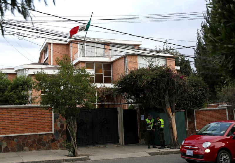 A view of Mexico's embassy in La Paz