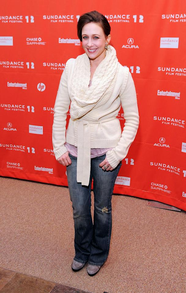 "PARK CITY, UT - JANUARY 24:  Actress Vera Farmiga attends the ""GOATS"" premiere during the 2012 Sundance Film Festival held at Eccles Center Theatre on January 24, 2012 in Park City, Utah.  (Photo by Jemal Countess/Getty Images)"