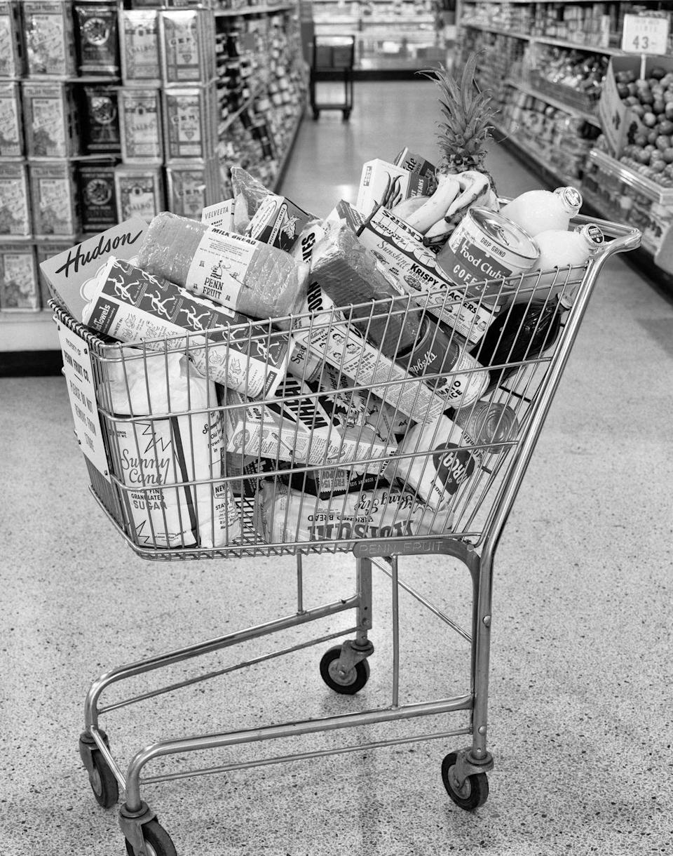 """<p>Next time you use a cart at the grocery store, thank Oklahoma. Shopping carts <a href=""""http://mentalfloss.com/article/59115/15-things-you-might-not-know-about-oklahoma"""" rel=""""nofollow noopener"""" target=""""_blank"""" data-ylk=""""slk:were invented in 1937"""" class=""""link rapid-noclick-resp"""">were invented in 1937</a> by the owner of the Piggy Wiggly supermarket chain, who thought of the """"folding basket carrier"""" as a way for customers to carry their groceries. </p><p><strong>RELATED: </strong><a href=""""https://www.goodhousekeeping.com/life/money/g3270/money-saving-grocery-shopping-tricks/"""" rel=""""nofollow noopener"""" target=""""_blank"""" data-ylk=""""slk:15 Grocery Shopping Tricks That Will Save You Time and Money"""" class=""""link rapid-noclick-resp"""">15 Grocery Shopping Tricks That Will Save You Time and Money</a> </p>"""
