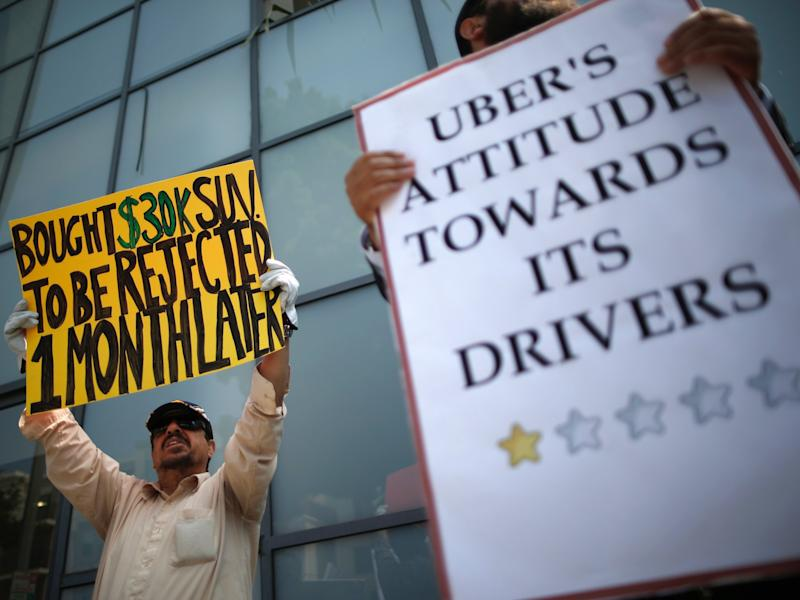 Uber protesters