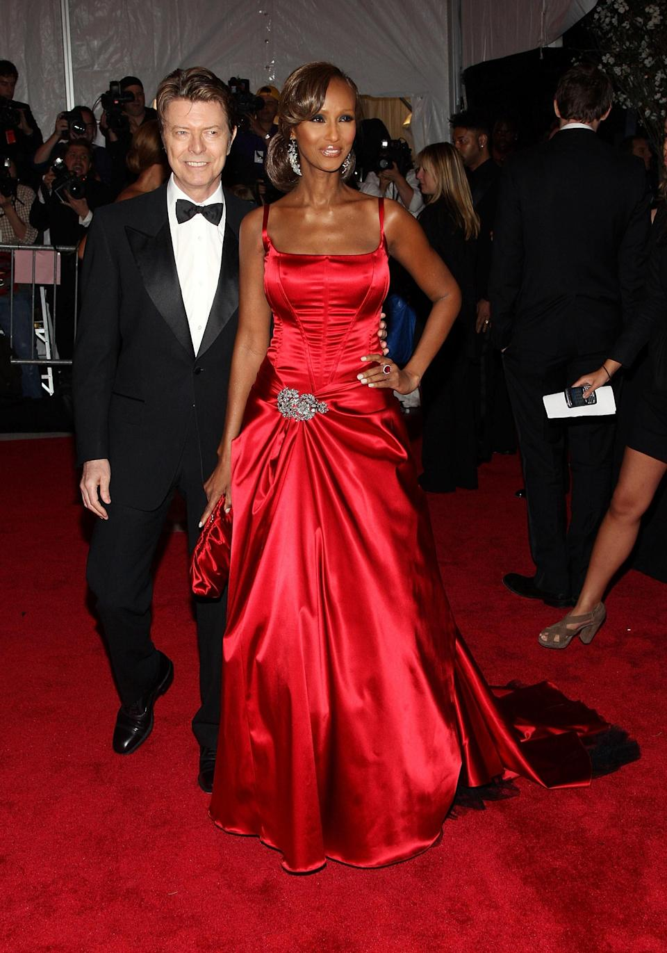 David Bowie and Iman<br> 2008