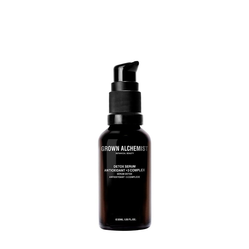 """<p>Essential bioactive nutrients like antioxidant polyphenols from rosehip and camellia-seed oil work to detoxify skin of oxygen, carbon, and nitrogen free radicals for noticeably rejuvenated and supple skin. This lightweight, oil-free serum is perfect for daily use, and its antiaging benefits are quite the perk. (<em>Detox Serum, $59.95,</em> <a rel=""""nofollow"""" href=""""https://www.grownalchemist.com/skincare/detox-serum-antioxidant-3-30ml.html?mbid=synd_yahoobeauty""""><em>Grown Alchemist</em></a>)</p>"""