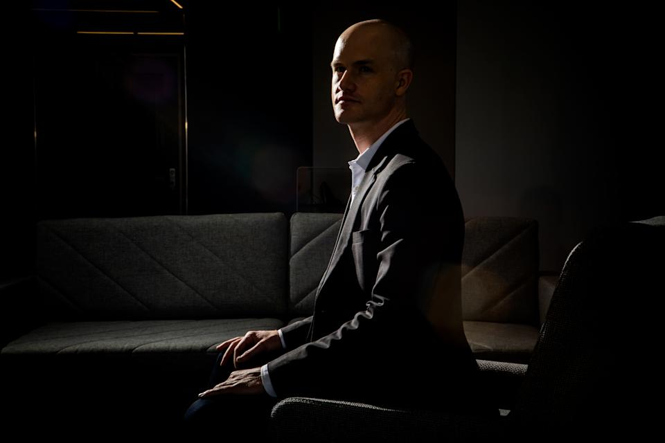 San Francisco, CA - May 4, 2018: Coinbase CEO Brian Armstrong sits for a portrait in their San Francisco headquarters. (Photo by Christie Hemm Klok for The Washington Post via Getty Images)