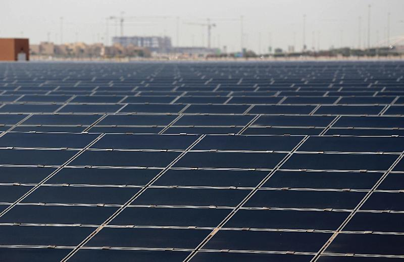 """The first group of projects approved by the New Development Bank's board are in the area of """"green"""" and renewable energy (AFP Photo/Karim Sahib)"""