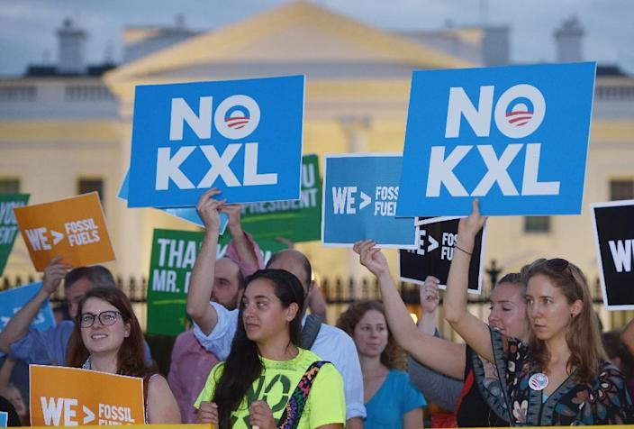 US President-elect Donald Trump has expressed intent on day one to approve the Keystone XL pipeline project, which the Obama administration blocked (AFP Photo/MANDEL NGAN)