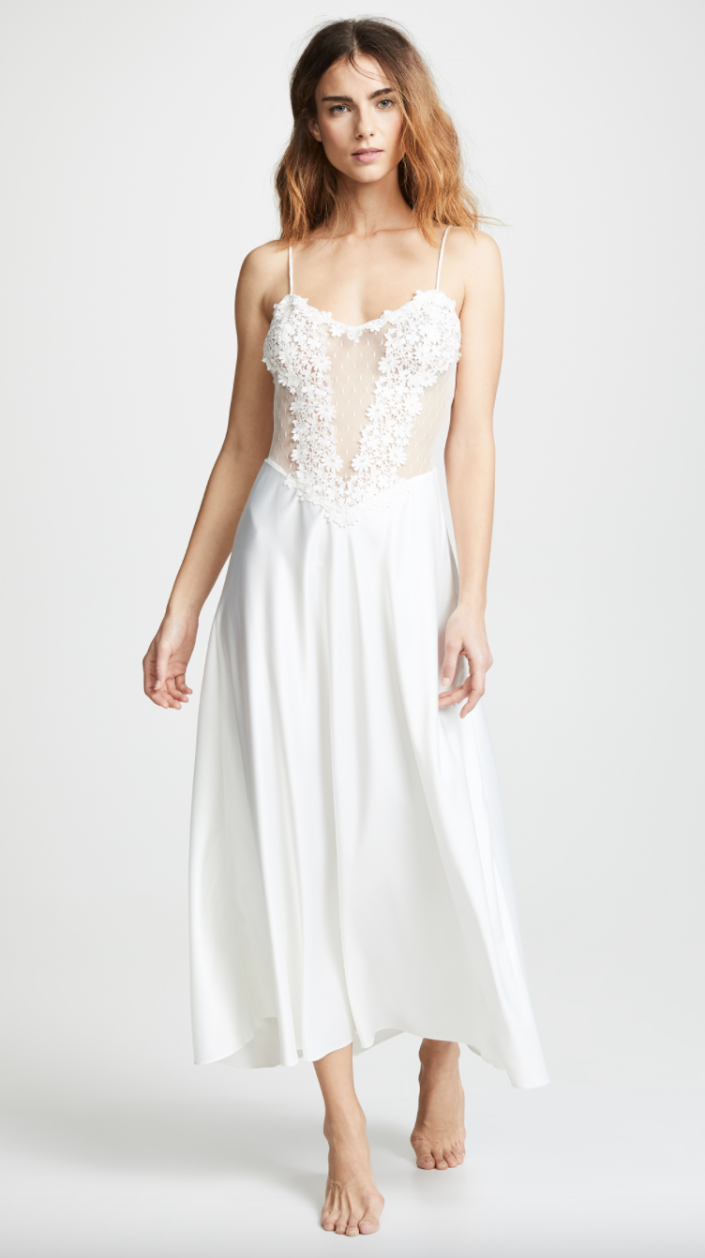 Flora Nikrooz 'Showstopper' Charmeuse Gown with Lace (Photo via Shopbop)