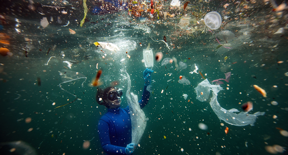 Plastics have been found in some of the deepest parts of the ocean. Source: Getty