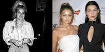 <p>Yolanda Foster was an in-demand model during the '80s and, surprise, surprise, now her daughters Gigi (left at 20) and Bella (right at 19) are some of the biggest names in the modeling game.</p>