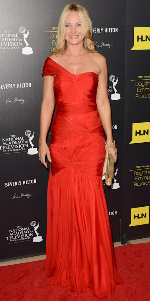 Sharon Case arrives at The 39th Annual Daytime Emmy Awards held at The Beverly Hilton Hotel on June 23, 2012 in Beverly Hills, California.