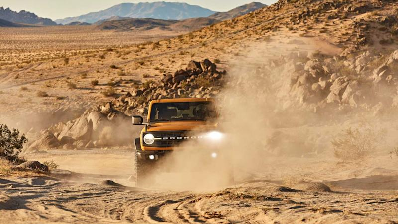 2021 Ford Bronco driving on sand