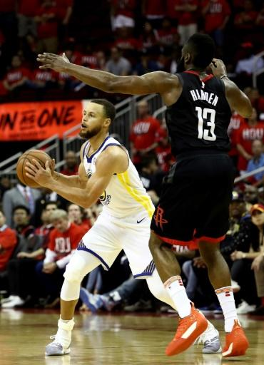 Stephen Curry added 18 points, six rebounds and eight assists for the Warriors in a 119-106 win over Houston in game one of the Western Conference Finals