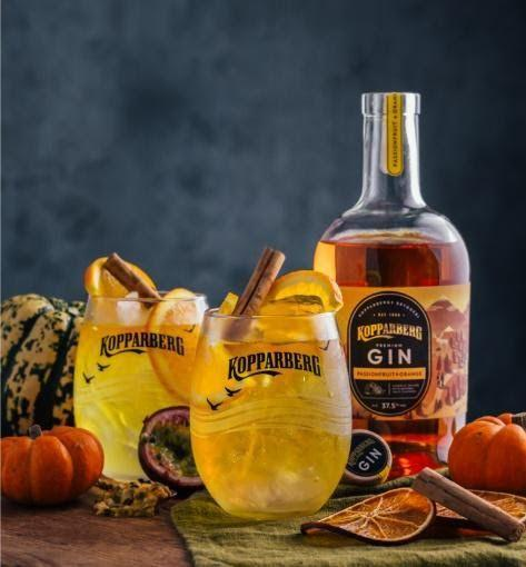 """<p>Pour 50ml <a href=""""https://www.amazon.co.uk/Kopparberg-Gin-Passionfruit-Orange-70cl/dp/B085T5GJLG/ref=sr_1_3?dchild=1&keywords=Passionfruit+%26+Orange+Gin&qid=1605624928&sr=8-3"""" rel=""""nofollow noopener"""" target=""""_blank"""" data-ylk=""""slk:Kopparberg Passionfruit & Orange Gin"""" class=""""link rapid-noclick-resp"""">Kopparberg Passionfruit & Orange Gin</a> over cubed ice, top with 200ml ginger beer and 2 drops of angostura bitters. Stir gently to ensure ingredients are combined, and garnish with an orange wheel and stick of cinnamon. <br></p>"""