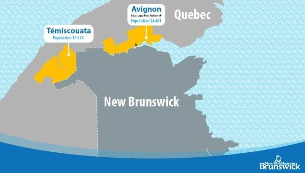 Témiscouata Regional County Municipality has a population of 19,574, while Avignon Regional County Municipality has 14,461 residents, according to figures from the provincial government.