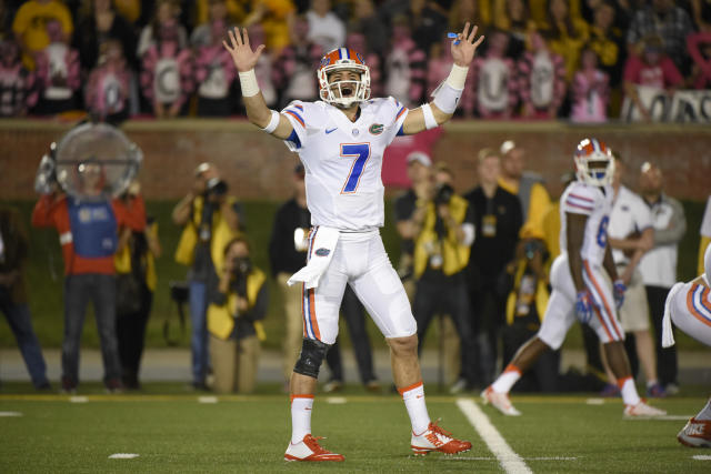 Will Grier's college career started at Florida before he got hit with a one-year suspension. (Getty Images)