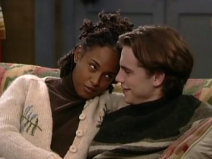 "Trina McGee and Rider Strong on ""Boy Meets World."""