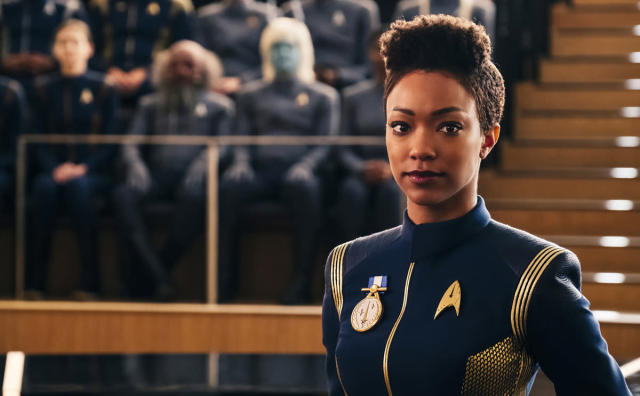 Sonequa Martin-Green as Michael Burnham in <em>Star Trek: Discovery</em>. (Photo: Jan Thijs/CBS Interactive)