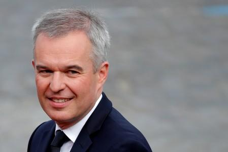 FILE PHOTO:French Minister for the Ecological and Inclusive Transition Francois de Rugy arrives to attend the traditional Bastille Day military parade on the Champs-Elysees Avenue in Paris