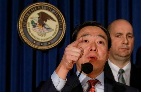 Joon H. Kim, Acting United States Attorney for the Southern District of New York, announces federal charges against Akayed Ullah in connection with Monday's bombing at the New York Port Authority Bus Terminal in Manhattan, in New York, U.S., December 12, 2017. REUTERS/Brendan McDermid