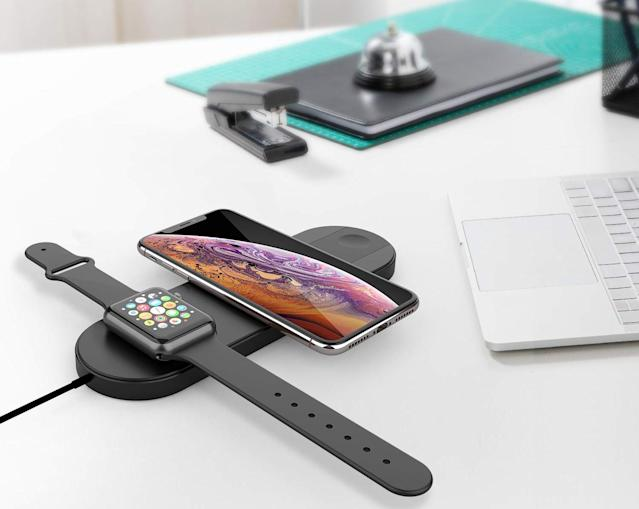 Wirelessly charge three devices at the same time! (Photo: Amazon)