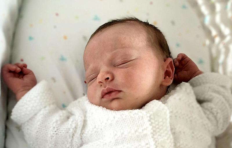 Millie was born a short while after Boris Johnson announced the lockdown. (SWNS)