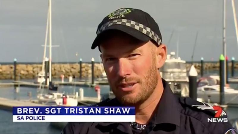 Sgt Shaw said he had never seen anything like it in seven years of patrolling water. Source: 7 News