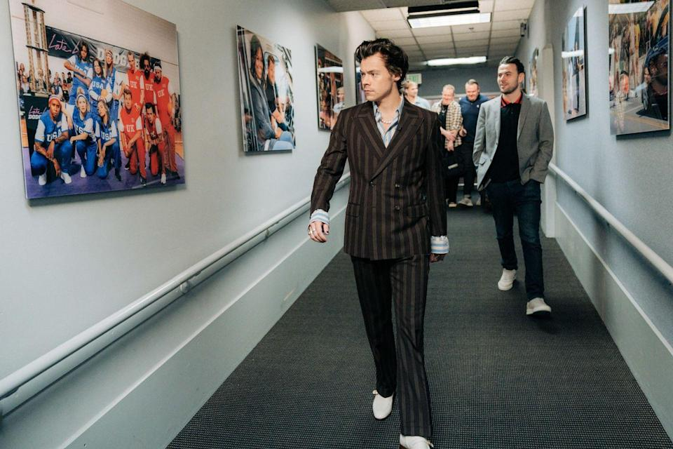 <p>No thoughts, head empty, just Harry in stripes. Stripes on Harry. Harry wearing stripes on stripes on stripes.</p>