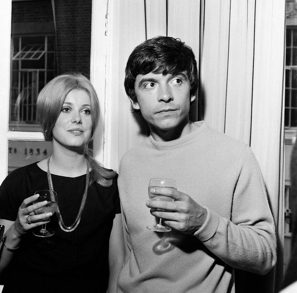 <p>French actress Catherine Deneuve met <em>Vogue</em> photographer David Bailey, renowned for his relationships with models, when he photographed her nude for <em>Playboy</em>. Deneuve, 21, and Bailey, 27, married at St. Pancras Registry Office in London on August 18. They divorced in 1972, and she never married again, although he remarried twice (and had married once before).</p>