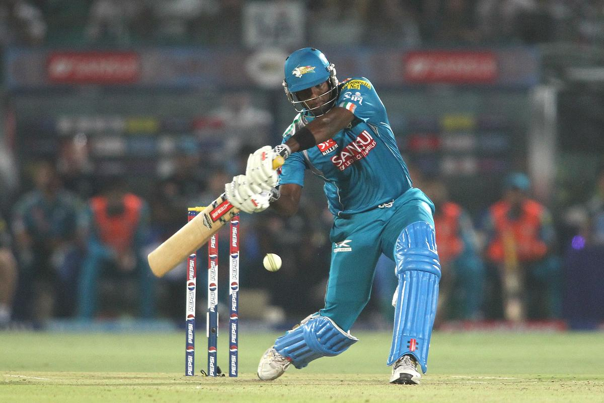 Angelo Mathews of Pune Warriors India attacks a delivery during match 50 of the Pepsi Indian Premier League (IPL) 2013 between The Rajasthan Royals and the Pune Warriors India held at the Sawai Mansingh Stadium in Jaipur on the 5th May 2013..Photo by Shaun Roy-IPL-SPORTZPICS ..Use of this image is subject to the terms and conditions as outlined by the BCCI. These terms can be found by following this link:..https://ec.yimg.com/ec?url=http%3a%2f%2fwww.sportzpics.co.za%2fimage%2fI0000SoRagM2cIEc&t=1493332662&sig=0DTofaqTFqxd5onUWi5Dgg--~C