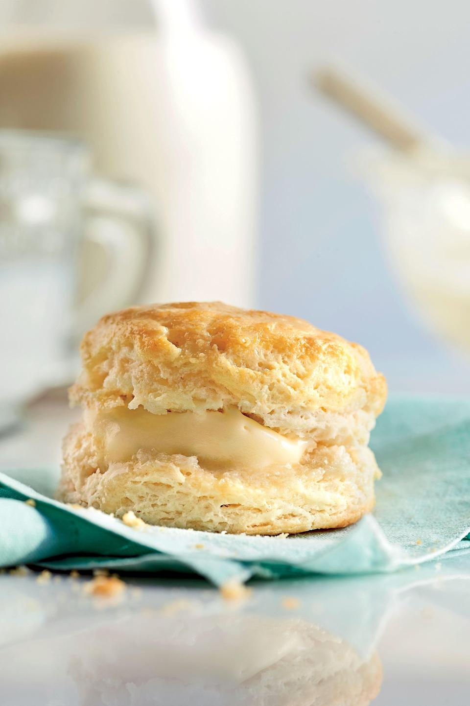 """<p><strong>Recipe: <a href=""""http://www.myrecipes.com/recipe/our-favorite-buttermilk-biscuit-50400000134850/"""" rel=""""nofollow noopener"""" target=""""_blank"""" data-ylk=""""slk:Our Favorite Buttermilk Biscuit"""" class=""""link rapid-noclick-resp"""">Our Favorite Buttermilk Biscuit</a></strong></p> <p>Our Test Kitchen baked hundreds of biscuits until we landed on our all-time favorite, no-fail recipe that will impress new cooks and old pros alike.</p> <p><strong>Watch: <a href=""""http://www.southernliving.com/food/how-to/perfect-buttermilk-biscuit-video"""" rel=""""nofollow noopener"""" target=""""_blank"""" data-ylk=""""slk:Our Best Ever Buttermilk Biscuit"""" class=""""link rapid-noclick-resp"""">Our Best Ever Buttermilk Biscuit</a></strong></p>"""