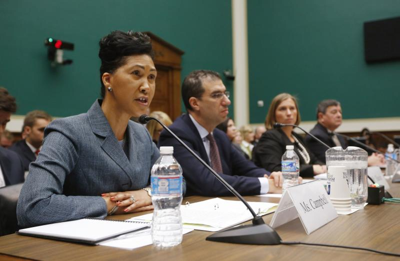 Witnesses are pictured during a House Energy and Commerce Committee hearing on the Patient Protection and Affordable Care Act in Washington