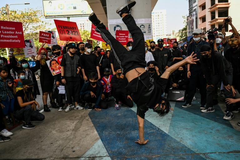 Dance troupes and orchestras have joined Myanmar's anti-coup protests, bringing a creative flare to the popular dissent