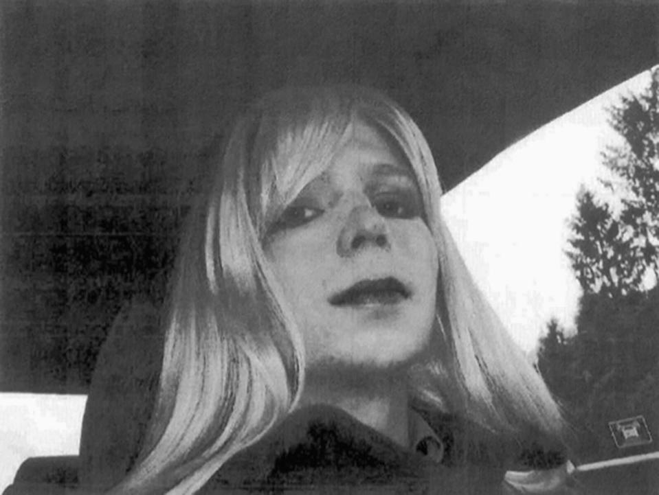 The famous photograph Chelsea took of herself in 2010. (Photo: U.S. Army via AP, File)