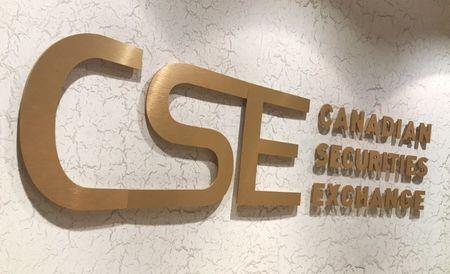 The Canadian Securities Exchange (CSE) sign hangs at its office in Toronto