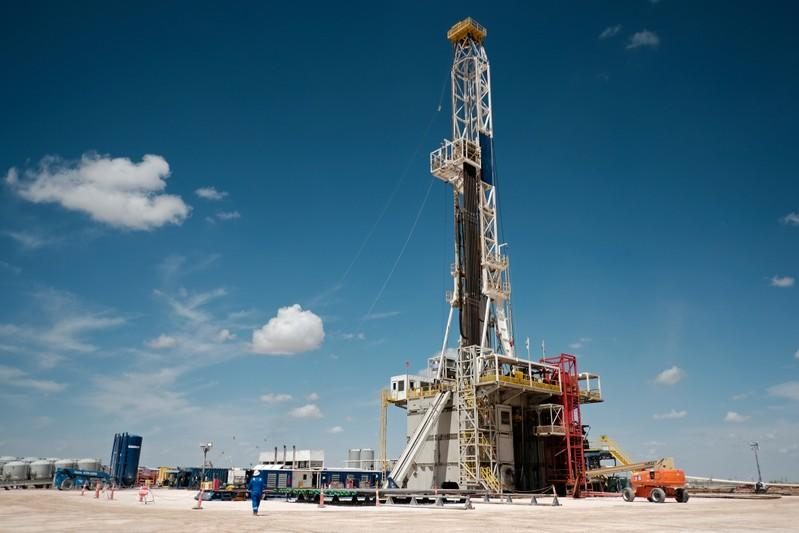 FILE PHOTO: Chevron oil exploration drilling site near Midland