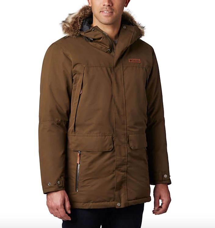 """This jacket comes in sizes LT to 4XT. <a href=""""https://fave.co/2TxcORW"""" rel=""""nofollow noopener"""" target=""""_blank"""" data-ylk=""""slk:Find it at Columbia"""" class=""""link rapid-noclick-resp""""><strong>Find it at Columbia</strong></a>."""
