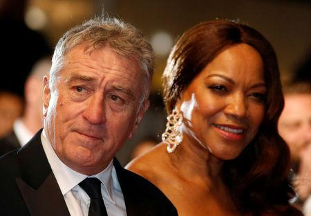 "FILE PHOTO - Cast member Robert De Niro and his wife Grace Hightower pose on the red carpet as they arrive for the screening of the film ""Hands of Stone"" out of competition at the 69th Cannes Film Festival in Cannes"