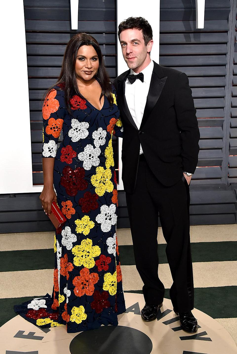 <p>Mindy Kaling and B. J. Novak attend the 2017 Vanity Fair Oscar Party hosted by Graydon Carter at Wallis Annenberg Center for the Performing Arts on February 26, 2017 in Beverly Hills, California. (Photo by John Shearer/Getty Images) </p>