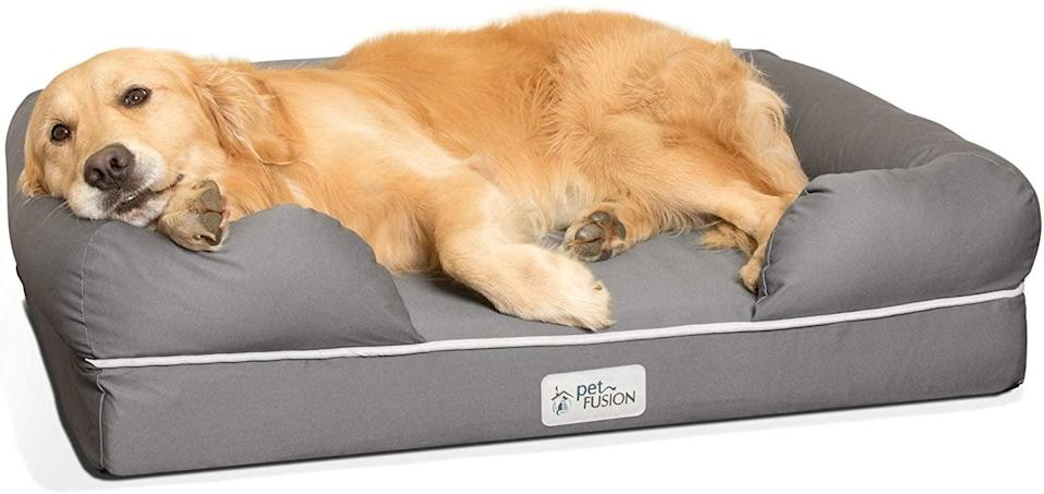 <p>Your dog will obsess over the <span>PetFusion Ultimate Dog Bed</span> ($120). It has orthopedic memory foam and a waterproof liner.</p>