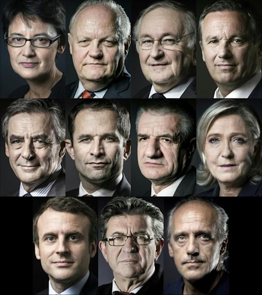 For the first time, all 11 candidates for French president will debate