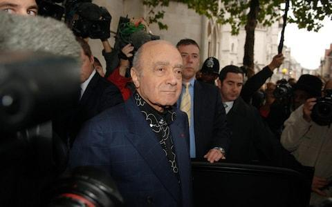<span>Mohammed Al Fayed is pictured at the start of the inquest into Diana and Dodi's death in 2007.</span> <span>Credit: Geoff Pugh </span>
