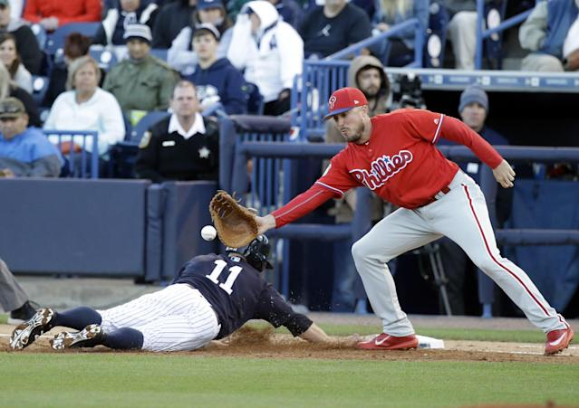 Brock Stassi's saving grace during his career was his glove. (AP Images)