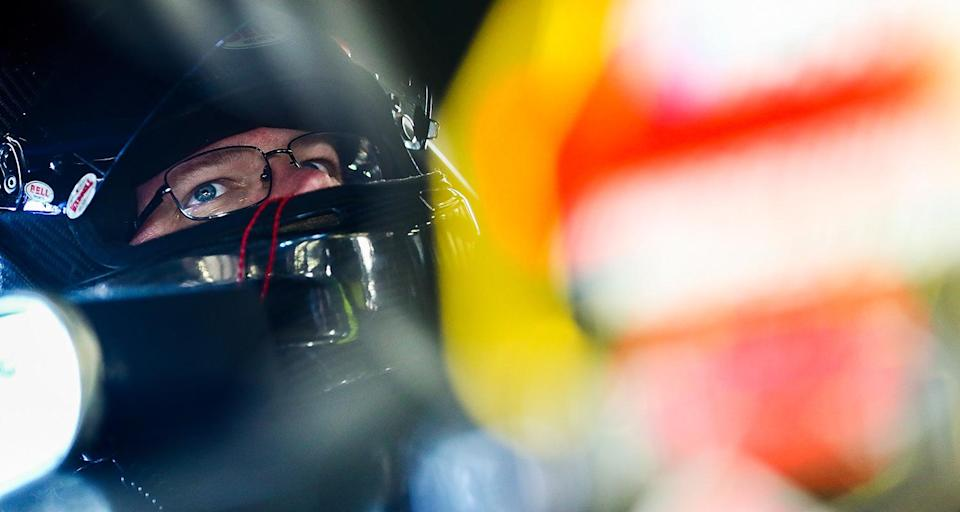 LOUDON, NH - SEPTEMBER 20: Ron Silk, driver of the #85 Stuarts Automotive Chevrolet, during practice for the NASCAR Whelen Modified Tour Musket 250 at New Hampshire Motor Speedway on September 20, 2019 in Loudon, New Hampshire. Photo by Adam Glanzman/NASCAR