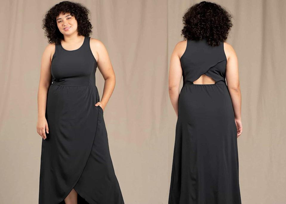 """<h2>Toad&Co Sunkissed Maxi Dress</h2><br><strong><em>The Travel Companion<br></em></strong><br>While this simple black maxi dress may not immediately jump off the page, it boasts scores of glowing reviews that praise the frock for its high-performance, sweat-wicking, and rumple-proof qualities. With UPF fabric that provides excellent sun protection, a quick-drying, anti-wrinkle nylon fabrication, this durable and flattering dress is a stylish option for travel and outdoor activity.<br><br><strong>The Hype:</strong> 4.6 out of 5 stars, 86 reviews on ToadandCo.com<br><br><strong>What They're Saying:</strong> """"Love this dress. The fabric is so lightweight and comfortable. I have worn it on vacation at the beach as well as traveling on the plane and walking around in NOLA when it was 100 degrees. At first, I thought it was going to be very wrinkly based on how it looked when I received it, but after hanging up for a few hours the wrinkles were gone which also makes it a perfect travel dress. Always receive compliments when I wear it."""" — Linsay S., Zappos.com reviewer<br><br><em>Shop <strong><a href=""""http://zappos.com"""" rel=""""nofollow noopener"""" target=""""_blank"""" data-ylk=""""slk:Toad&Co"""" class=""""link rapid-noclick-resp"""">Toad&Co</a></strong></em><br><br><strong>Toad&Co</strong> Sunkissed Maxi Dress, $, available at <a href=""""https://go.skimresources.com/?id=30283X879131&url=https%3A%2F%2Fwww.toadandco.com%2Fproducts%2Fsunkissed-maxi-dress-black%3Fvariant%3D32681413247024"""" rel=""""nofollow noopener"""" target=""""_blank"""" data-ylk=""""slk:Toad&Co"""" class=""""link rapid-noclick-resp"""">Toad&Co</a>"""