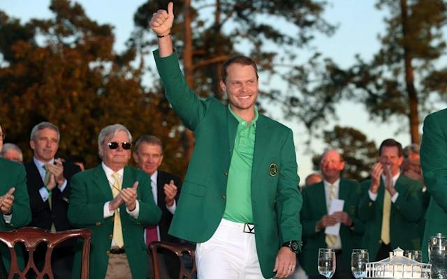 <span>Thumbs up for Danny Willett who wrote himself into Augusta history</span> <span>Credit: Getty Images </span>