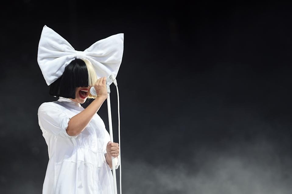 Sia performs at V Festival at Hylands Park on August 20, 2016 in Chelmsford, England.
