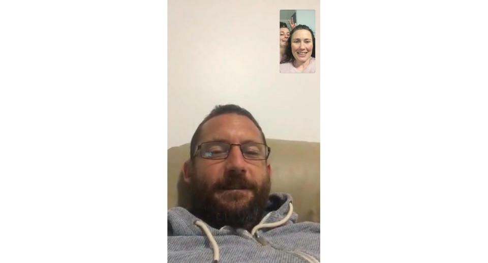 A screenshot of the family speaking over a FaceTime call. Source: Supplied