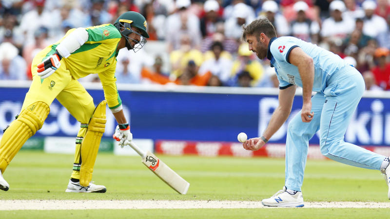 Liam Plunkett, pictured here in action against Australia at the Cricket World Cup.